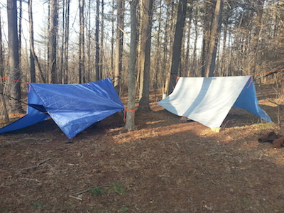 use a tarp for camping